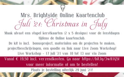 Mrs. Brightside Online Kaartenclub Juli '21