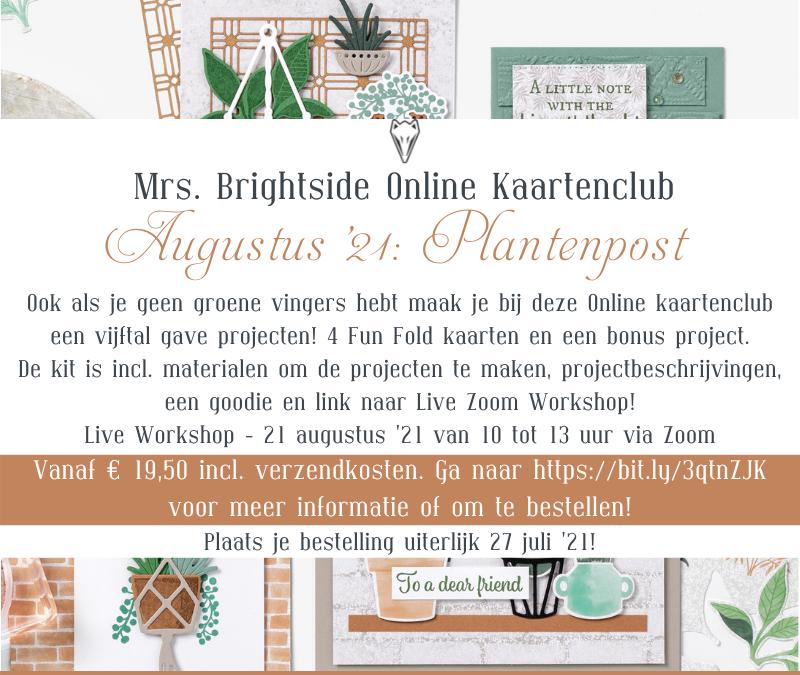Mrs. Brightside Online Kaartenclub Augustus '21