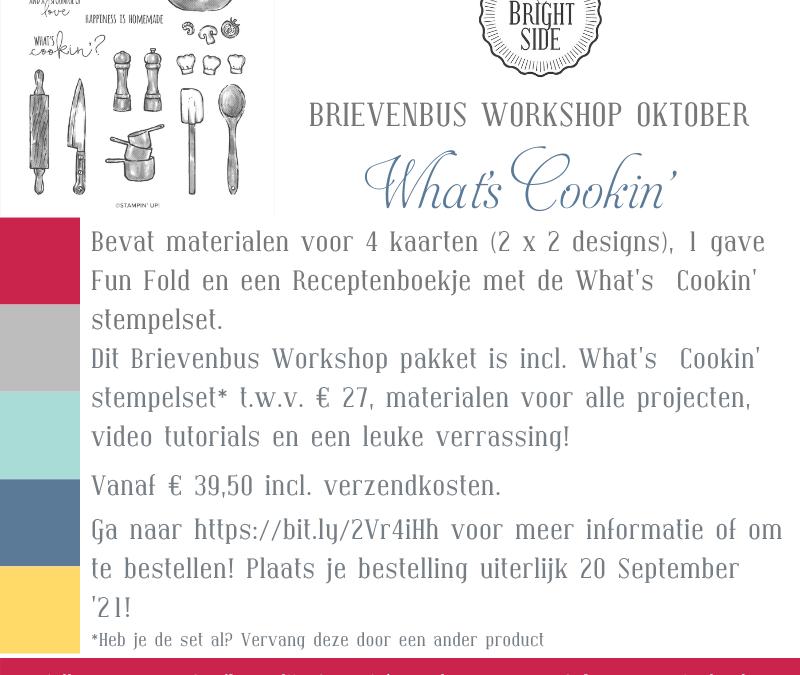 What's Cookin' Brievenbus Workshop Oktober '21