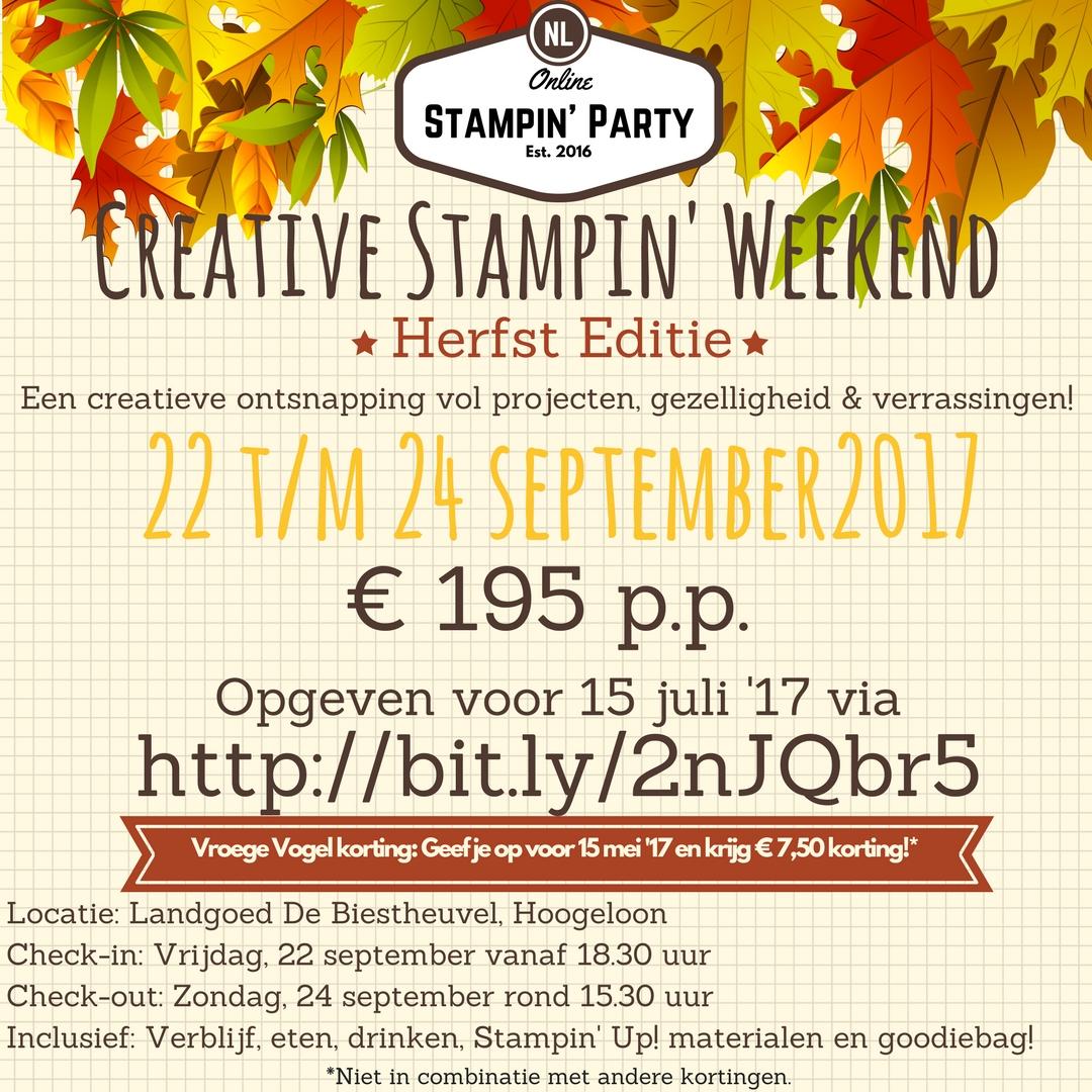 Creative Stampin' Weekend 'Herfst editie'