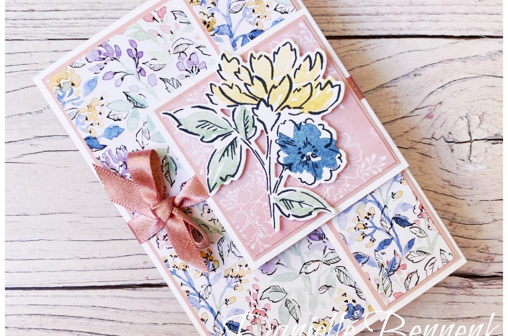 Hand-Penned Fancy Fold – Feel Good Bloghop