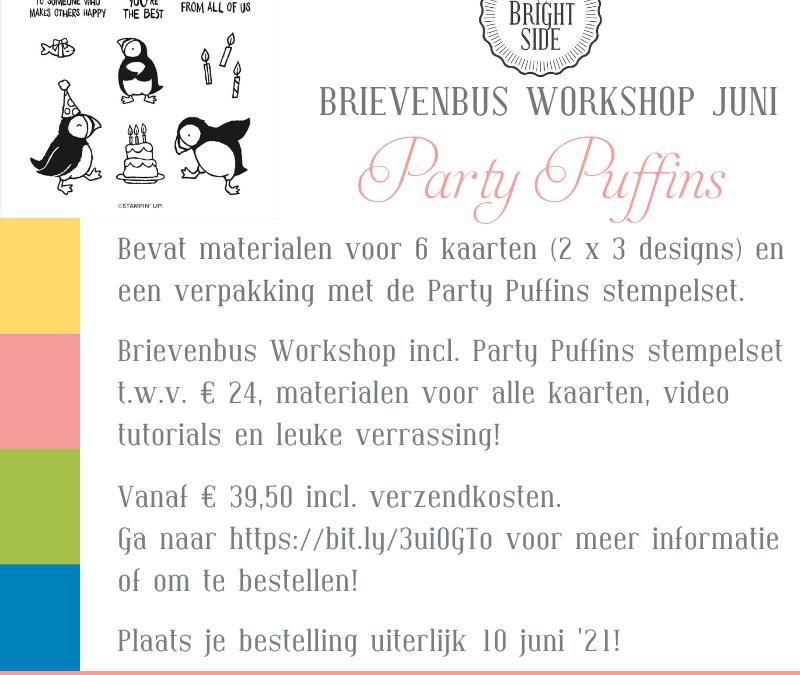 Party Puffins Brievenbus Workshop Juni '21