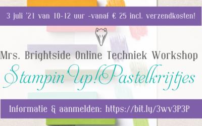 Pastelkrijtjes Online Techniek Workshop Juli '21