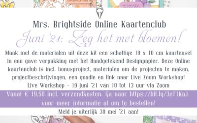 Mrs. Brightside Online Kaartenclub Juni '21