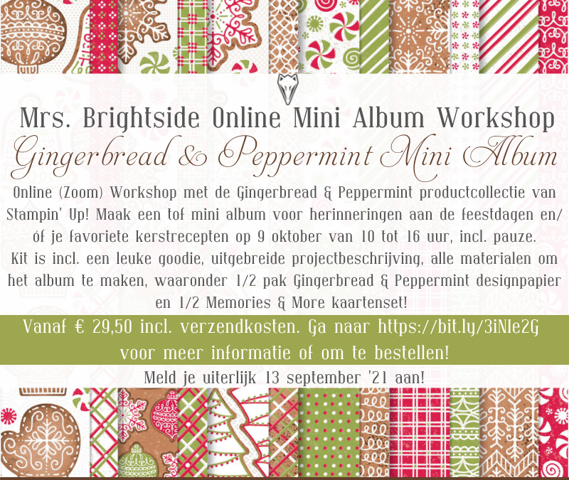 Gingerbread & Peppermint Mini Album Online Dag Workshop Oktober '21